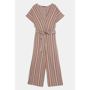 NWT Zara Striped Rustic Jumpsuit